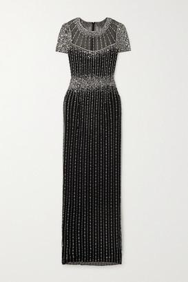 Jenny Packham Delilah Embellished Tulle Gown - Black