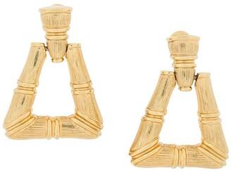 Monet Pre-Owned Bamboo hoop earrings