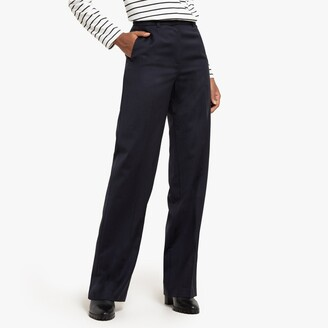 """La Redoute Collections Wool Mix Straight Trousers, Length 31.5"""""""