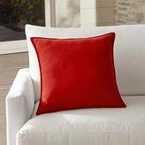 """Crate & Barrel Sunbrella ® Ribbon Red 20"""" Sq. Outdoor Pillow"""