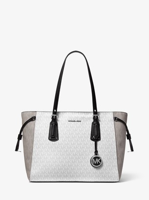 MICHAEL Michael Kors Voyager Medium Two-Tone Logo Tote Bag
