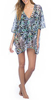 Kenneth Cole New York Palm Reading Kimono Sleeve Tunic Cover-Up
