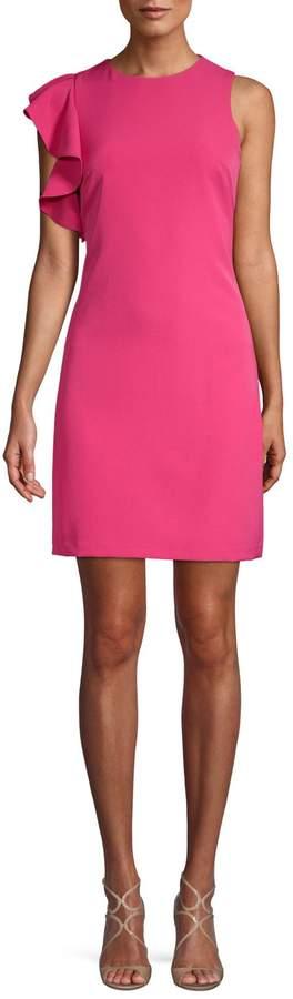 Julia Jordan Ruffle-Trimmed Sheath Dress
