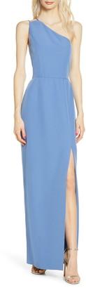 WAYF The Lenore One Shoulder Column Dress