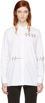 Christopher Kane White Eyelets & Rings Shirt