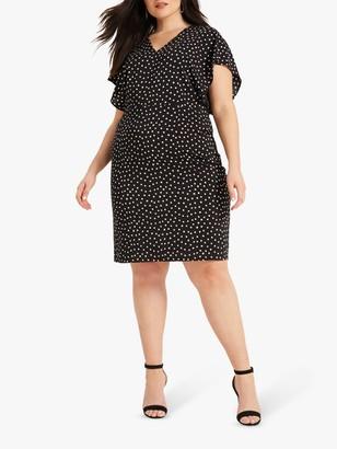 Studio 8 Natasha Spot Dress, Black/Ivory