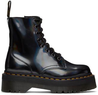 Dr. Martens Black Jadon Hologram Platform Boots