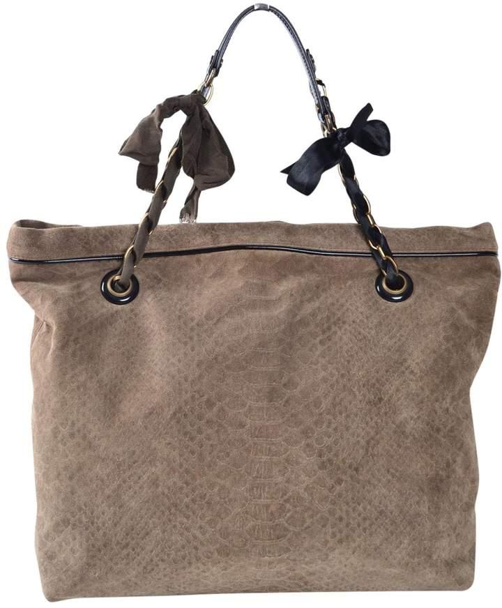 Lanvin Khaki Suede Handbag