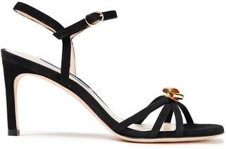 Stuart Weitzman Embellished Suede Sandals
