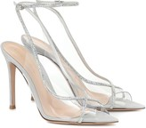 Gianvito Rossi Crystelle embellished PVC sandals