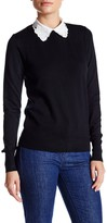 Lucy Paris Lace Collared Sweater