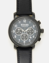 Versace Hoxton Square 47mm Chrono Leather