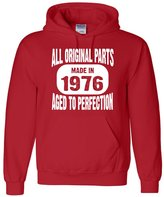Go All Out Screenprinting Adult Made In 1976 All Original Parts Aged To Perfection Sweatshirt Hoodie