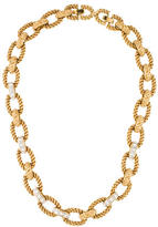 Kenneth Jay Lane Crystal & Textured Link Necklace