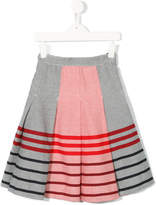 Familiar striped colourblock skirt