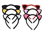 Yaslnn 6pcs/pack Baby Girls Women Fluffy Cat Ear Headband for Fancy Dress Party (Color-01)