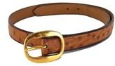 Hermes Cognac Ostrich Leather Belt