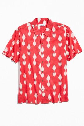 Raga Man Arrow Print Short Sleeve Button-Down Shirt