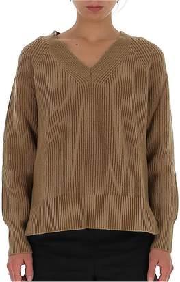 MICHAEL Michael Kors V Neck Ribbed Sweater