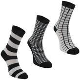 Firetrap 3 Pack Ladies Ankle Socks