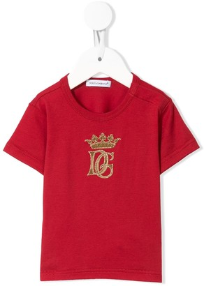 Dolce & Gabbana Kids embroidered logo T-shirt