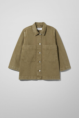 Weekday Trip Khaki Denim Jacket - Beige