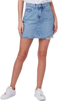 Paige Aideen Ripped Denim Miniskirt
