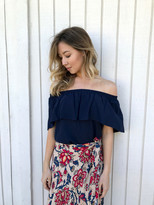 Tysa Tulum Top In Navy