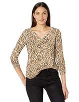 William Rast Women's Candice Henley Long Sleeve Tee Shirt