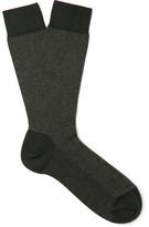 Ermenegildo Zegna Herringbone Cotton-blend Socks - Green