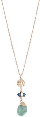 Melrose and Market Flash Gold Triple Pendant Necklace