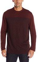Van Heusen Men's Long-Sleeve Two-Tone Slub Doubler Crew Shirt