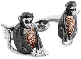 Tateossian Two-Tone Swarovski Crystal Cufflinks