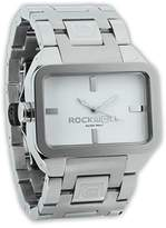 Rockwell Time Unisex DT101 Dual Time Stainless Steel and White Watch