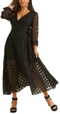 GUESS Bertha Dot-Print Maxi Dress
