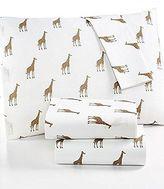 Martha Stewart Whim Collection 100% Cotton Sheet Set Sparkley Giraffes (queen)