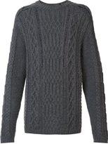 Maison Margiela distressed cable knit jumper - men - Wool/Alpaca/Polyimide - M
