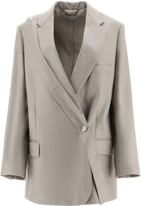 Stella McCartney Double Breasted Melange Wool Blazer