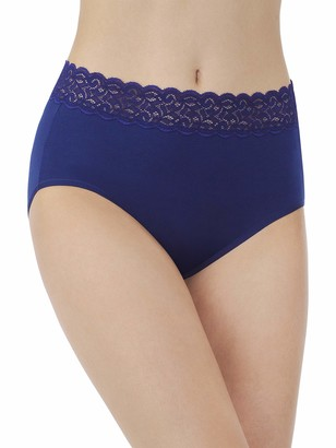 Vanity Fair Women's Flattering Lace Cotton Stretch Brief Panty 13396
