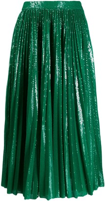 MSGM Sequinned Plisse Full Skirt