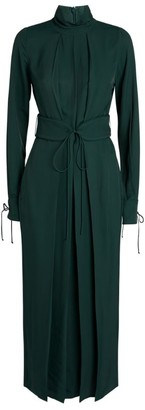 Victoria Beckham Mock-Neck Midi Dress