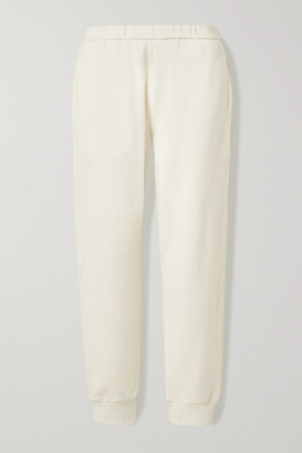 The Row Azila Cotton And Cashmere-blend Track Pants - Cream