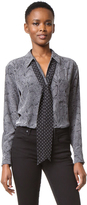 Equipment Kate Moss Daddy Blouse with Removable Neck Tie