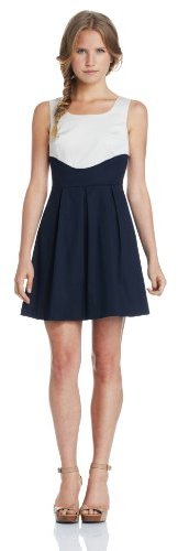 Amy Byer A. Byer Juniors Dress Full Pleated Short Sleeve Contour Body