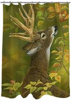 Thumbprintz Lucky Find Whitetail Fabric Shower Curtain