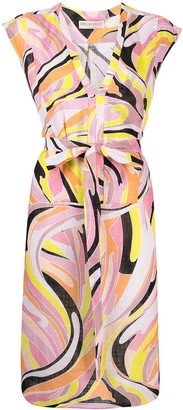 Emilio Pucci Vetrate print belted dress
