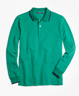 Brooks Brothers Long-Sleeve Cotton Tipped Polo