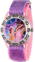 Disney Beauty and the Beast Girls' Purple Plastic Watch