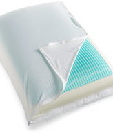 Sealy 3-in-1 Reversible Standard Pillow, Gel Overlay High Density Molded Memory Foam & Down Alternative Dual Sided Design with Removable Center