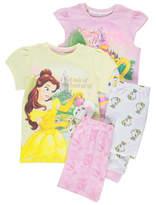 Disney George Princess Beauty and the Beast 2 Pack Pyjamas